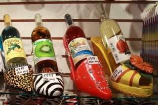 fabulous fruit wine - in shoes!