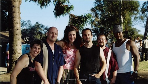 Backstage at San Diego LGBTQ Pride Festival, 2002