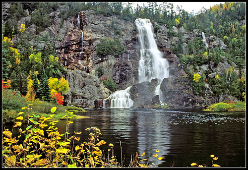 Bridal Veil Falls in Ontario's Agawa Canyon - 2000