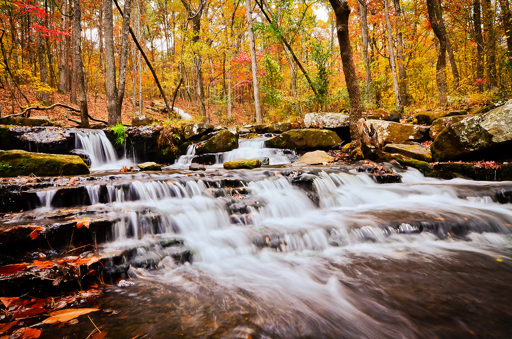 Pictures Of Fall Wallpapers Water Fall Heber Springs 1 Collins Creek Waterfall Near