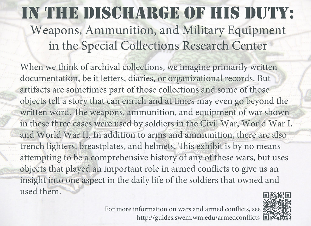 In the Discharge of his Duty: Weapons, Ammunition, and Mil