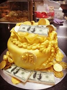 Money&gold cake