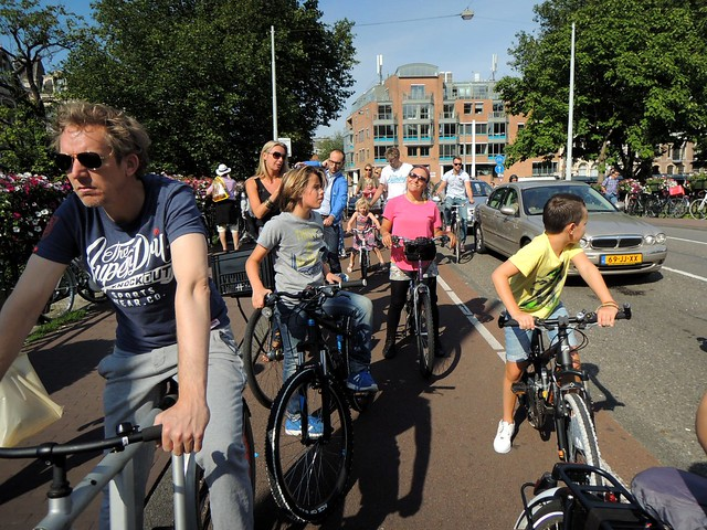 Amsterdam traffic by bryandkeith on flickr