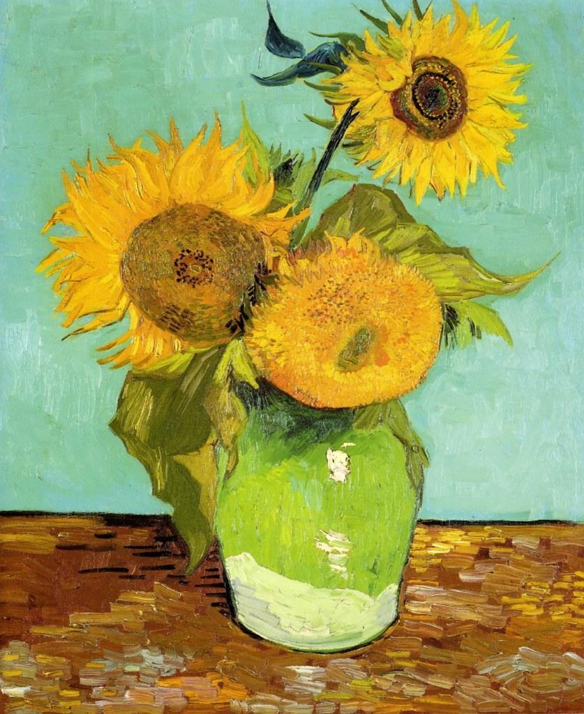 Les Tournesols De Van Gogh : tournesols, Trois, Tournesols, 1559), Flickr