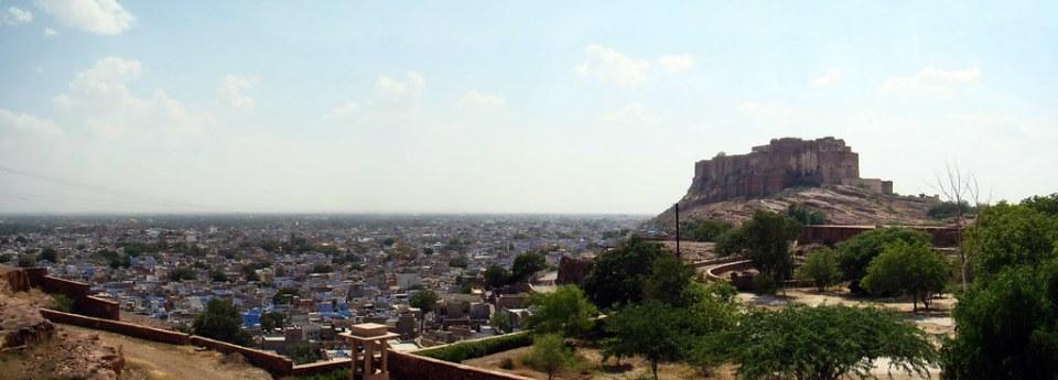 vista de Fuerte Mehrangarh Jodhpur la ciudad azul del Rajasthan India 13