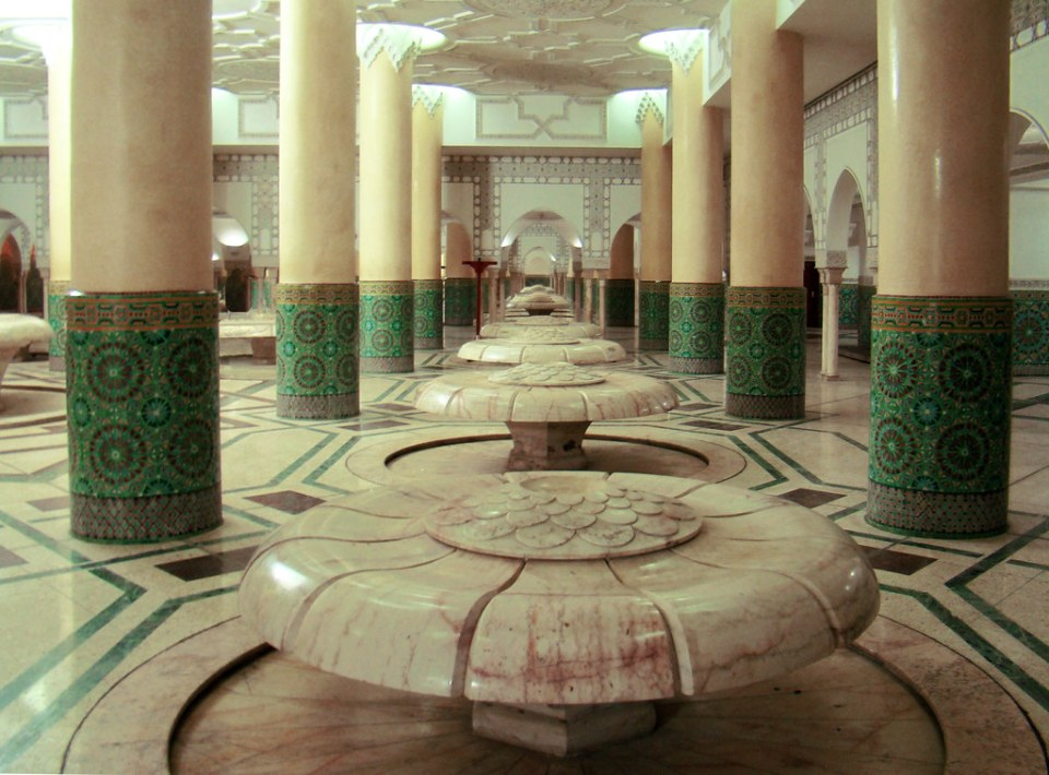 Marruecos Casablanca Mezquita Hassan II sala de abluciones 44