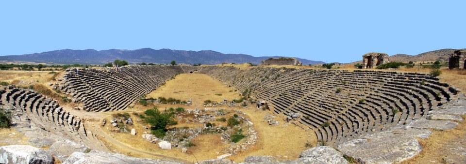 vista panorámica Estadio Afrodisias Turquía 14