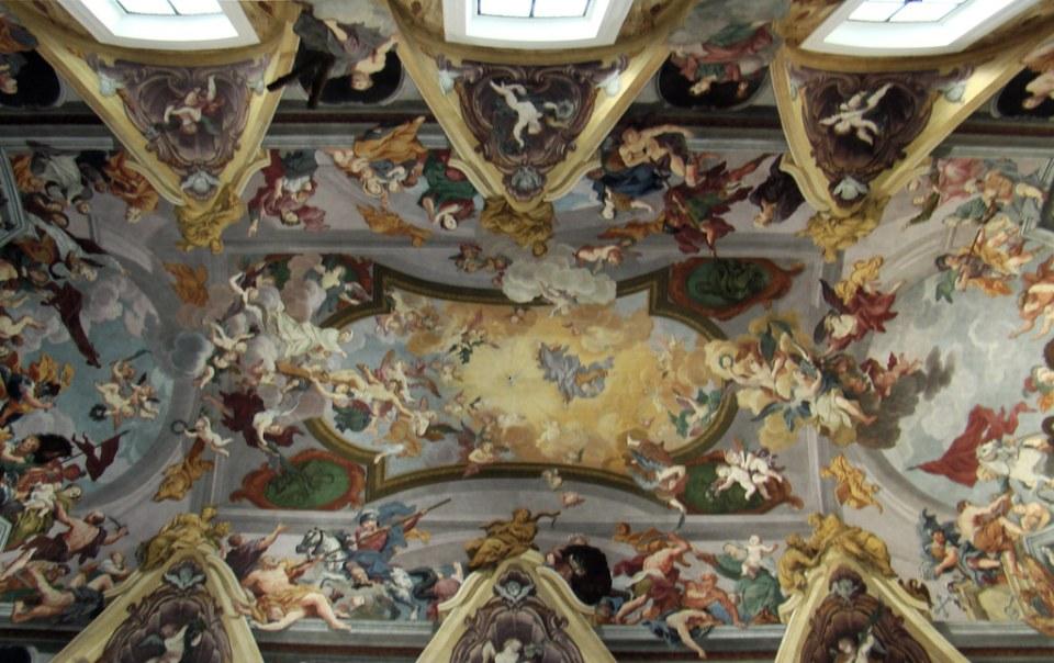 pintura mural boveda Catedral de San Nicolas Liubliana Eslovenia 06