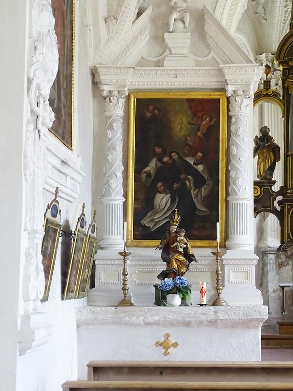 retablo pintura de San Quirino interior Capilla de San Quirino en Tegernsee Baviera Alemania 09