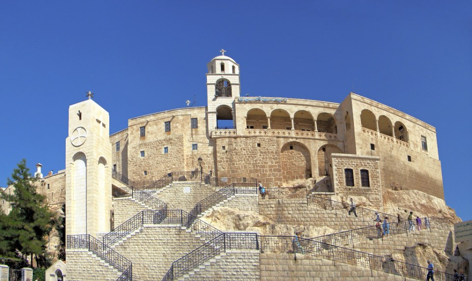 vista exterior del Monasterio Nuestra Señora de Saydnaya Siria 01