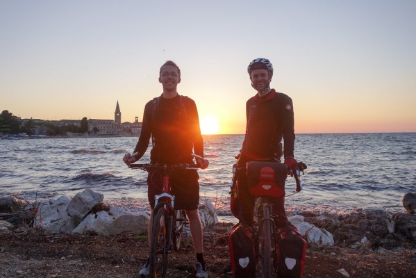 End of a long day cycling the coast from Trieste to Porec
