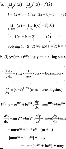 Plus Two Maths Chapter Wise Previous Questions Chapter 5 Continuity and Differentiability 32