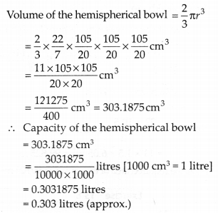 NCERT Solutions for Class 9 Maths Chapter 13 Surface Areas and Volumes Ex 13.8 Q5a