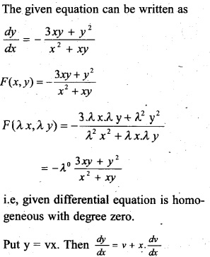 Plus Two Maths Chapter Wise Previous Questions Chapter 9 Differential Equations 14