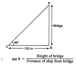 RBSE Solutions for Class 10 Maths Chapter 8 Height and Distance Q.16