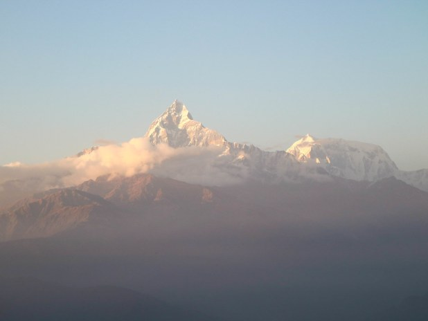 Vista del Machapuchre desde Sarangkot