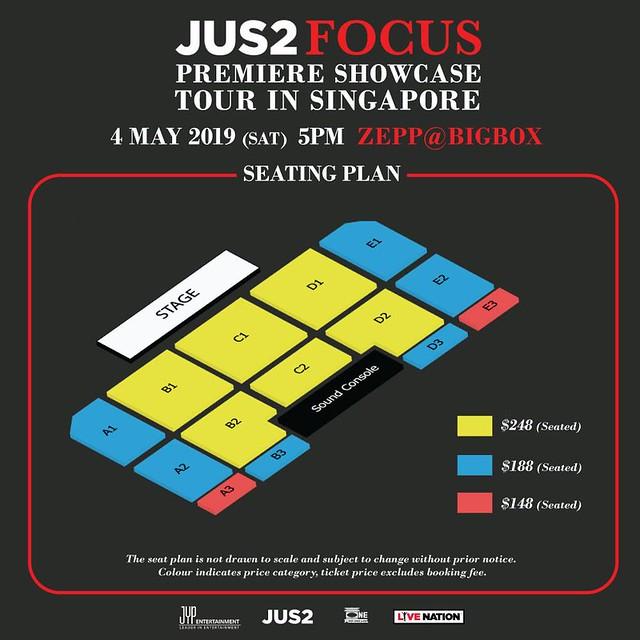 JUS2 FOCUS TOUR IN SG SEATING PLAN
