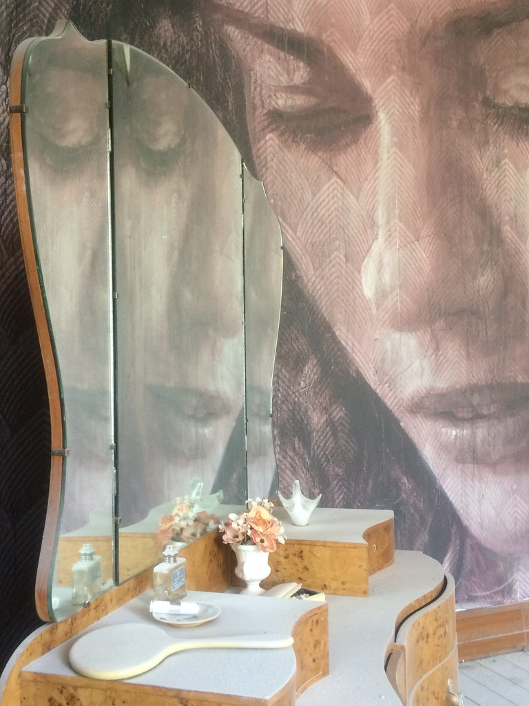 Beauty Reflected in Triplicate - the Her Room Portrait of Lily Sullivan - Rone Empire Installation Exhibition; Burnham Beeches, Sherbrooke