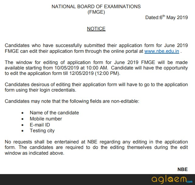 FMGE 2019 Application Form (Released): Date, Registration Fee, How to Apply for June 2019 exam