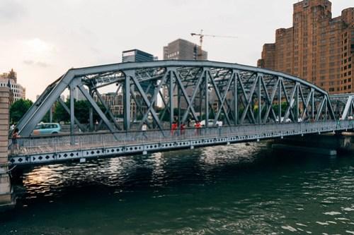 Bridge at the Bund (外白渡橋), Shanghai