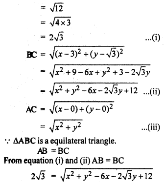 RBSE Solutions for Class 10 Maths Chapter 9 Co-ordinate Geometry Q.15.2