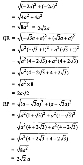 RBSE Solutions for Class 10 Maths Chapter 9 Co-ordinate Geometry Q.9.2
