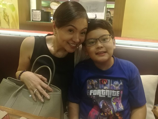 Cindy Ejercito and son Julio