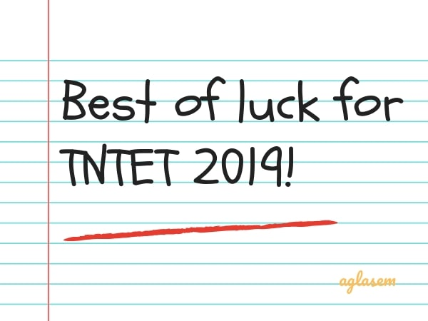 Best of luck for TNTET 2019