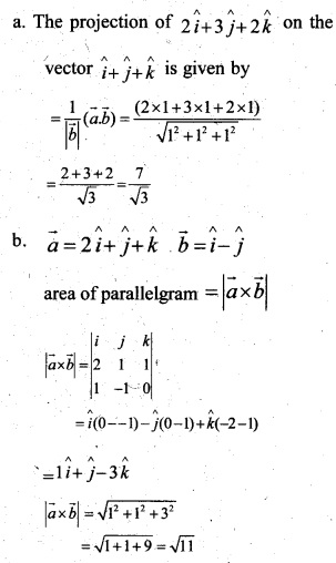 Plus Two Maths Chapter Wise Previous Questions Chapter 10 Vector Algebra 4