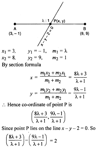 RBSE Solutions for Class 10 Maths Chapter 9 Co-ordinate Geometry 4Q.5