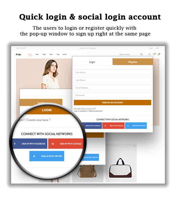 Quick login & social login