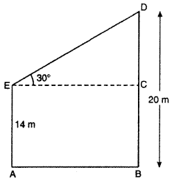 RBSE Solutions for Class 10 Maths Chapter 8 Height and Distance Q.6