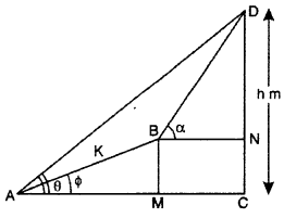 RBSE Solutions for Class 10 Maths Chapter 8 Height and Distance 3Q.15.2