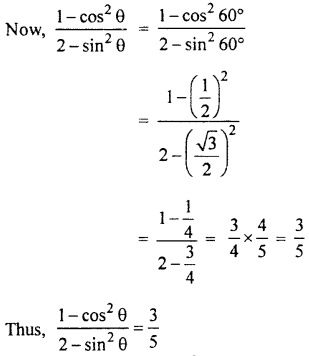 RBSE Solutions for Class 10 Maths Chapter 6 Trigonometric Ratios Q.13.2