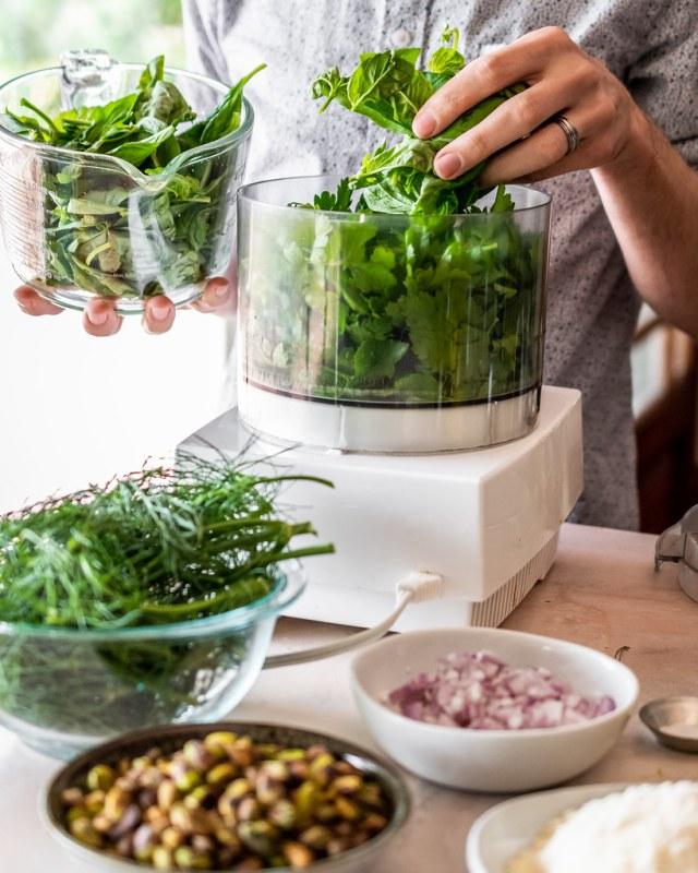 a bundle of fresh herbs