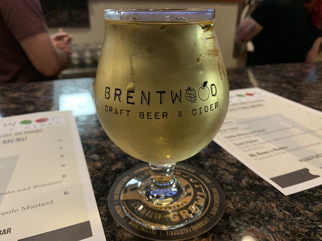 A cider at Brentwood Craft Beer and Cider