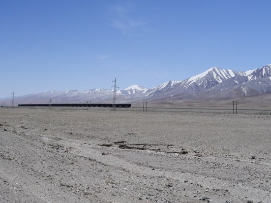 Qinghai-Tibet Railway - goes up to 5000m. Mental to think about all of the construction at an altitude where people struggle to breathe properly in a climate like that. I met some of the workers that built it though a few days ago - hard as nails.