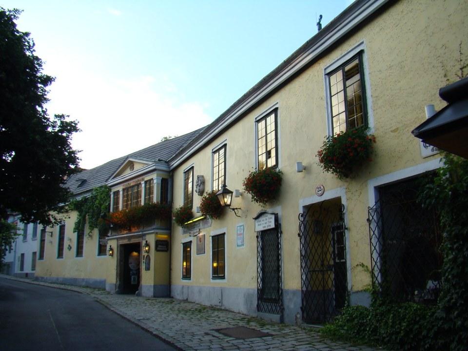 edificios y calle Grinzing Austria 16