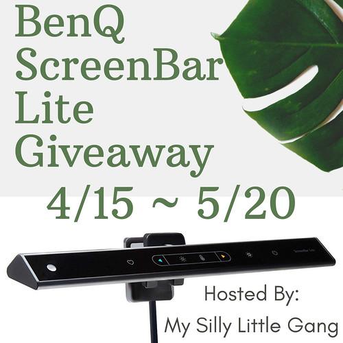 BenQ Screenbar Lite Giveaway! Ends 5/20 @BenQAmerica #MySillyLittleGang