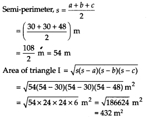 NCERT Solutions for Class 9 Maths Chapter 12 Heron's Formula Ex 12.2 A5a