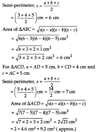 NCERT Solutions for Class 9 Maths Chapter 12 Heron's Formula Ex 12.2 A2a