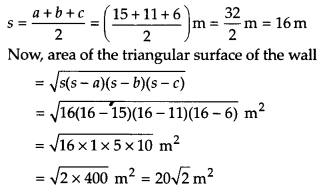 NCERT Solutions for Class 9 Maths Chapter 12 Heron's Formula Ex 12.1 Q3a