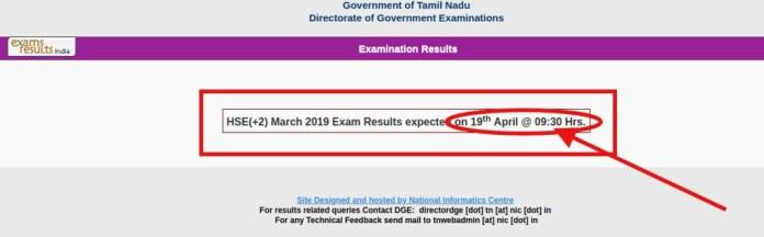 TN 12th Result 2019
