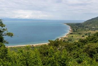 De baai bij Chiweta in het noorden.