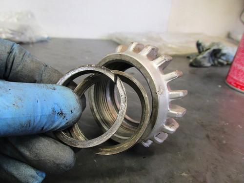 Header Nut & Sealing Rings Orientation Detail