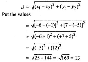 RBSE Solutions for Class 10 Maths Chapter 9 Co-ordinate Geometry Q.6.1