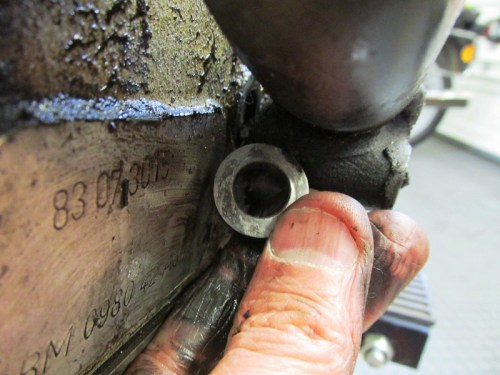 Front Engine Mount Stud Spacer Detail