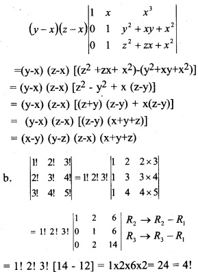 Plus Two Maths Chapter Wise Previous Questions Chapter 4 Determinants 8