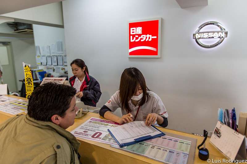 Demande de notre voiture de location au Japon