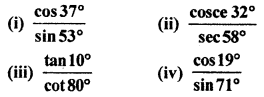 RBSE Solutions for Class 10 Maths Chapter 7 Trigonometric Identities Q.1.1